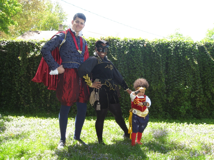 Superman, Batgirl, and Wonder Woman